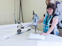 На швейном производстве квалифицированные специалисты