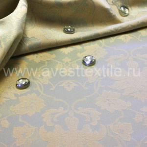 Ткань Ричард 050302+390301/1589 серебро цветочный узор