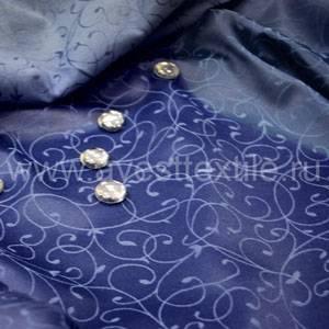 Ткань Ричард 194050/1812 синяя мелкий завиток