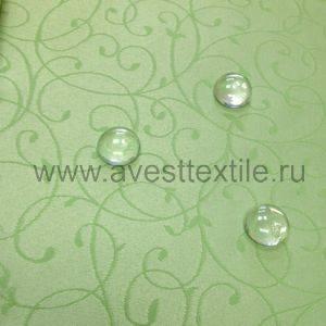 Ткань Ричард 130215/1812 салатовая мелкий завиток