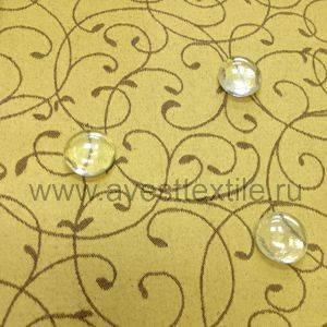 Ткань Ричард 040405+191020/1812 золотисто-коричневый мелкий завиток