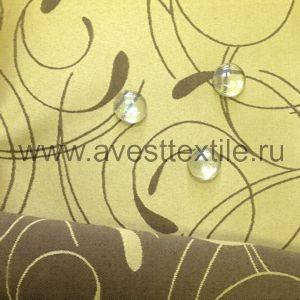 Ткань Ричард 040405+191020/2131 золотисто-коричневый простой завиток