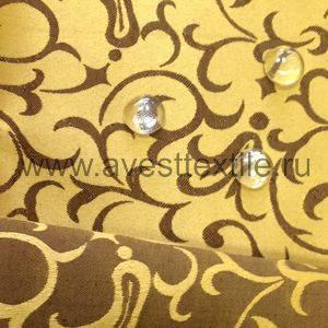 Ткань Ричард 040405+191020/1751 золотисто-коричневый римский узор