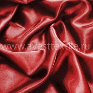 Ткань Атлас-Сатин красная