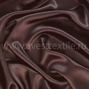 Ткань Атлас-Сатин темный шоколад