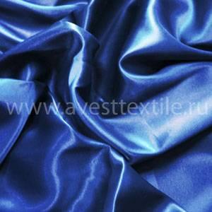 Ткань Атлас-Сатин василек