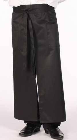 Фартук для официанта длинный на поясе с карманами