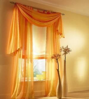 Комплект штор золотая вуаль