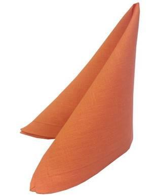 Салфетка 42х42 оранжевая лён