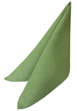 Салфетка 42х42 зеленая яркий лён