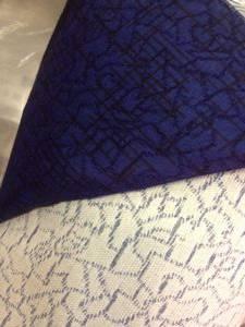 Ткань мебельная синяя