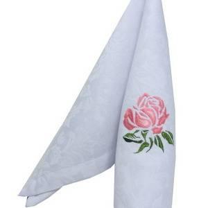 Вышивка Розочка, размер 60х60 мм, в 4 цвета