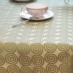 Ткань Мати 440604 +040401/1666 Серебристо-зеленая круги