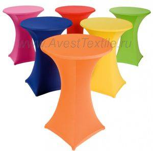 Чехол-Стрейч на стол коктейльный Д=80, Бифлекс