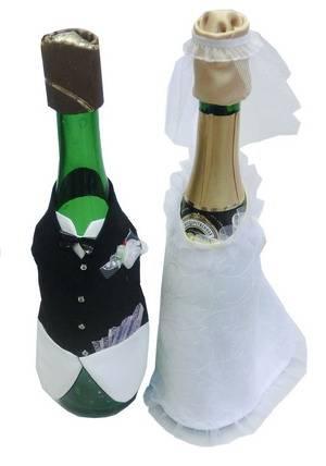 наряд на бутылку шампанского. <p> Подарок на свадьбу.