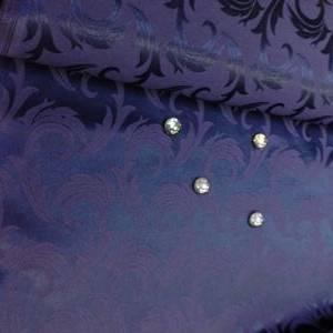 Ткань Мати 251003/1625 темно-синяя перья