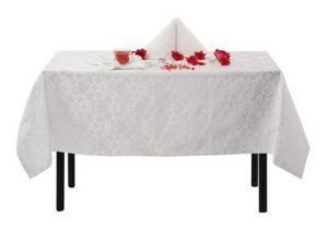 Скатерть 120х145 010101/1589 Белая цветочный узор