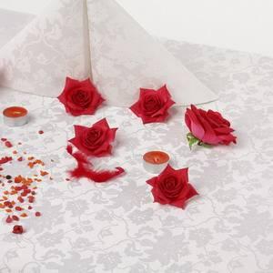 Ткань Мати 010101/1589 белая цветочный узор