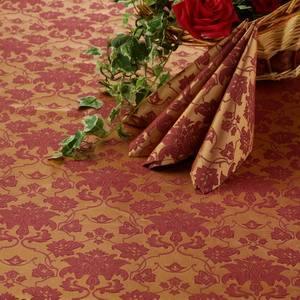 Ткань Мати 040403+161004/1589 золотисто-бордовая цветочный узор
