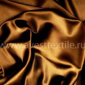 Ткань Атлас-Сатин молочный шоколад