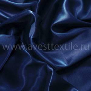 Ткань Атлас-Сатин темно-синий