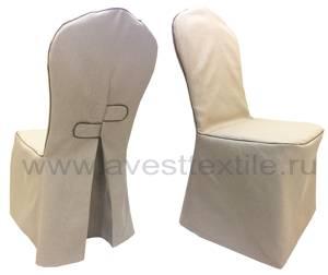Чехол на стул рогожка с кантом