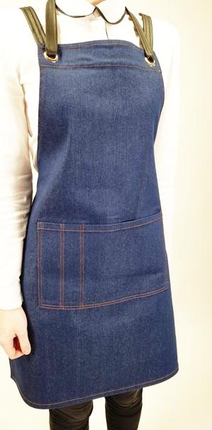 Фартук с грудкой женский джинса мод.036