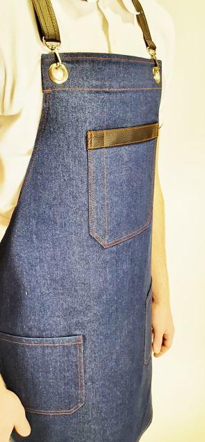 Фартук с грудкой мужской джинса мод.038