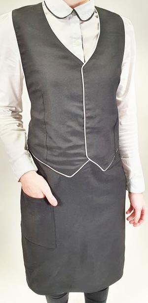 Фартук с имитацией жилета мод.068