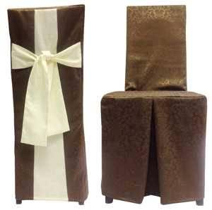 Чехол на стул Шоколад 1472 комбинированный