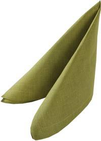 Салфетка 42х42 зеленая лён