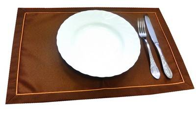 Подтарельник 30х47см. Журавинка 090902/2 Темно-коричневая гладь