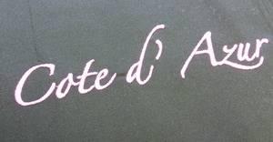 Вышивка Cote d'Azur